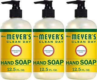 product image for Mrs. Meyer's Clean Day Liquid Hand Soap, Cruelty Free and Biodegradable Formula, Honeysuckle Scent, 12.5 oz- Pack of 3