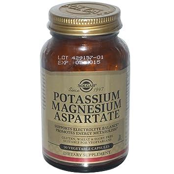 Solgar, Potassium Magnesium Aspartate, 90 Veggie Caps - 2pc