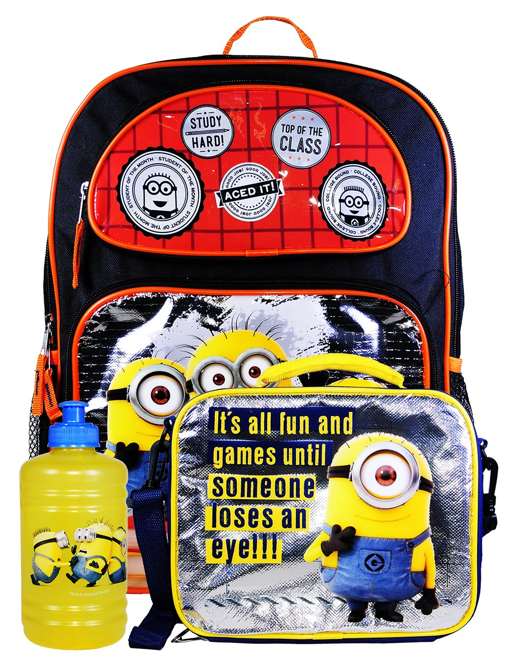 98081645e291 Disney Boy's Backpack with Lunchbox Set and Value Packs (Minions 16