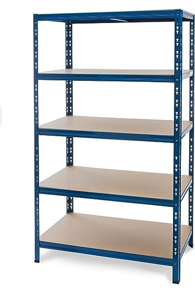 Steckregal Lagerregal Schwerlastregal Fachlagerregal Bibliotheksregal Badregale Regal 180x100x40 blau