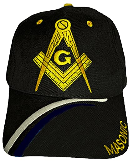 Buy Caps and Hats Masonic Baseball Cap Freemason Mason Hat Mens One Size ( Black) 227fc8d4b9b0