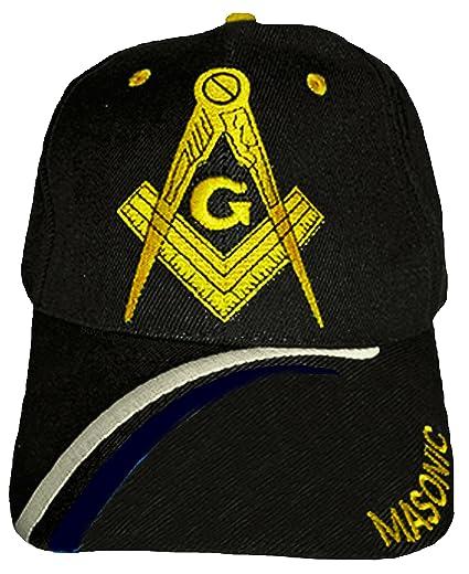 Buy Caps and Hats Masonic Baseball Cap Freemason Mason Hat Mens One Size  (Black) cdfc4672a13b