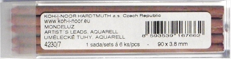 Rouge Carmine Koh-I-Noor Aquarell Mines de couleur pour 3.8mm Diamtre 90mm Porte-mine m/écanique