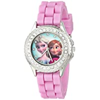 Disney Kids' FZN3554 Frozen Anna and Elsa Rhinestone-Accented Watch with Glittered...