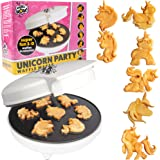 Unicorn Mini Waffle Maker- Creates 7 Different Unicorn Animal Shaped Waffles in Minutes- A Fun and Cool Magical Breakfast for