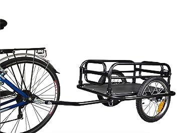 Polirone Shop Aquiles - Carro de remolque para bicicletas para el transporte de objetos y materiales