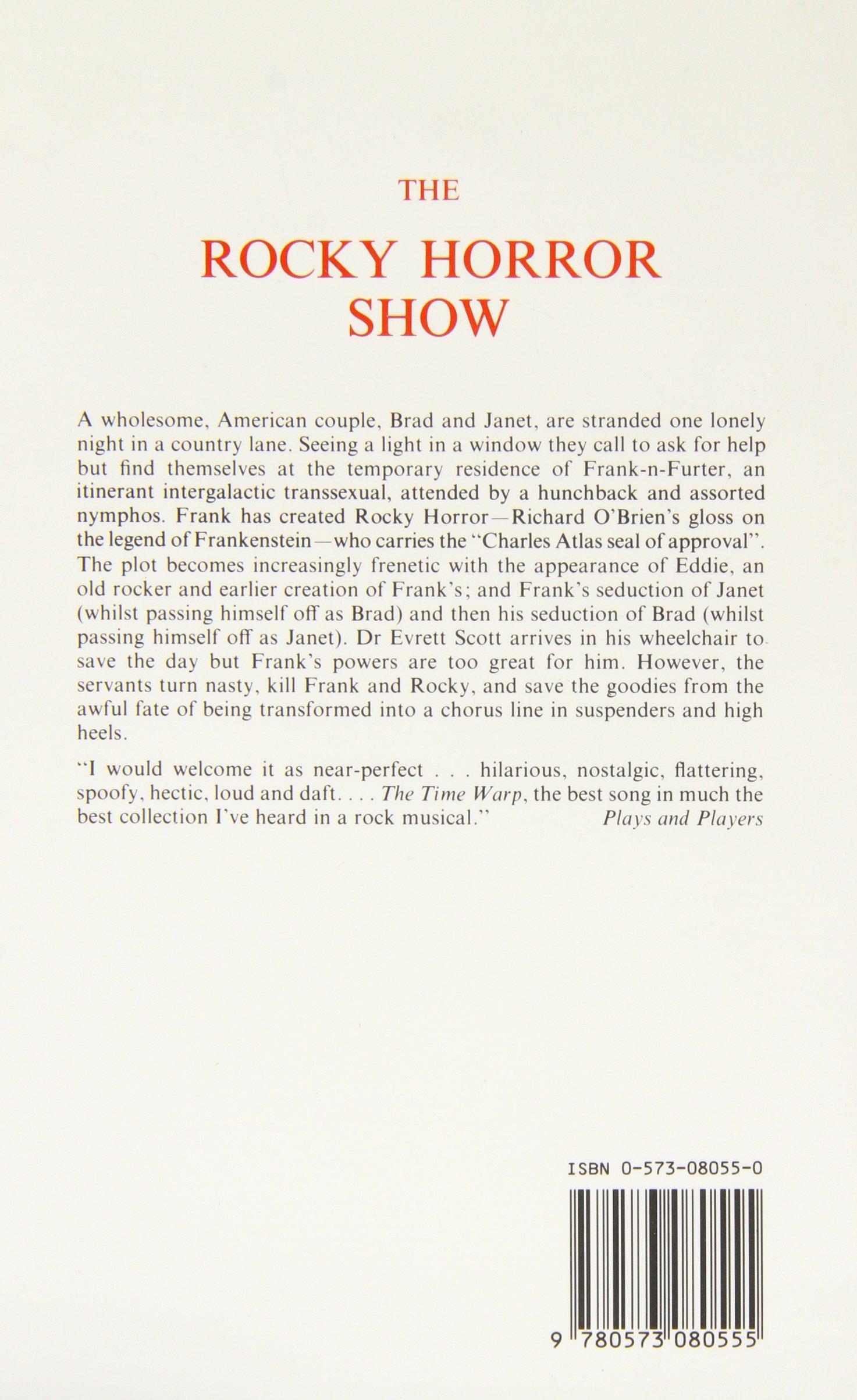 The Rocky Horror Show: Libretto (Acting Edition): Amazon.co.uk: Richard  O'Brien: 9780573080555: Books