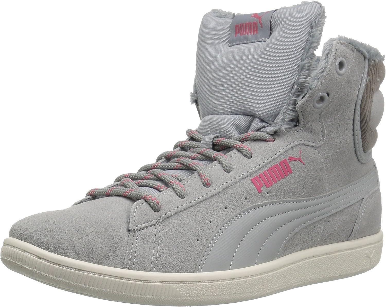 PUMA Women's Vikky Mid Corduroy Sneaker