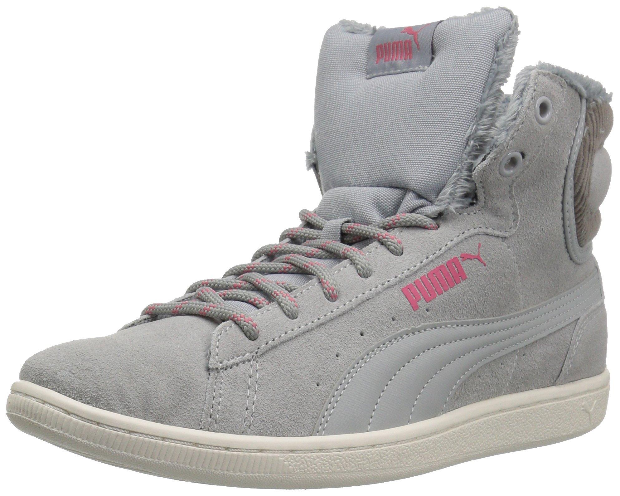 heiß-verkaufendes echtes verschiedene Arten von Markenqualität PUMA Women's Vikky Mid Corduroy Sneaker, Quarry, 8.5 M US