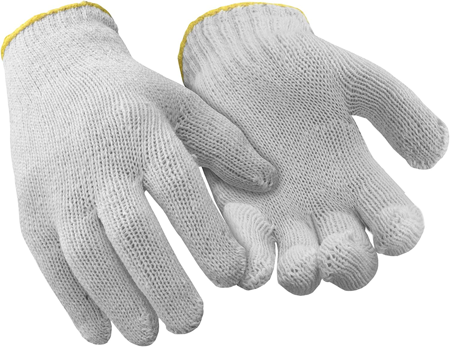 Natural, Small PACK OF 12 PAIRS RefrigiWear Midweight Poly//Cotton String Knit Glove Liners