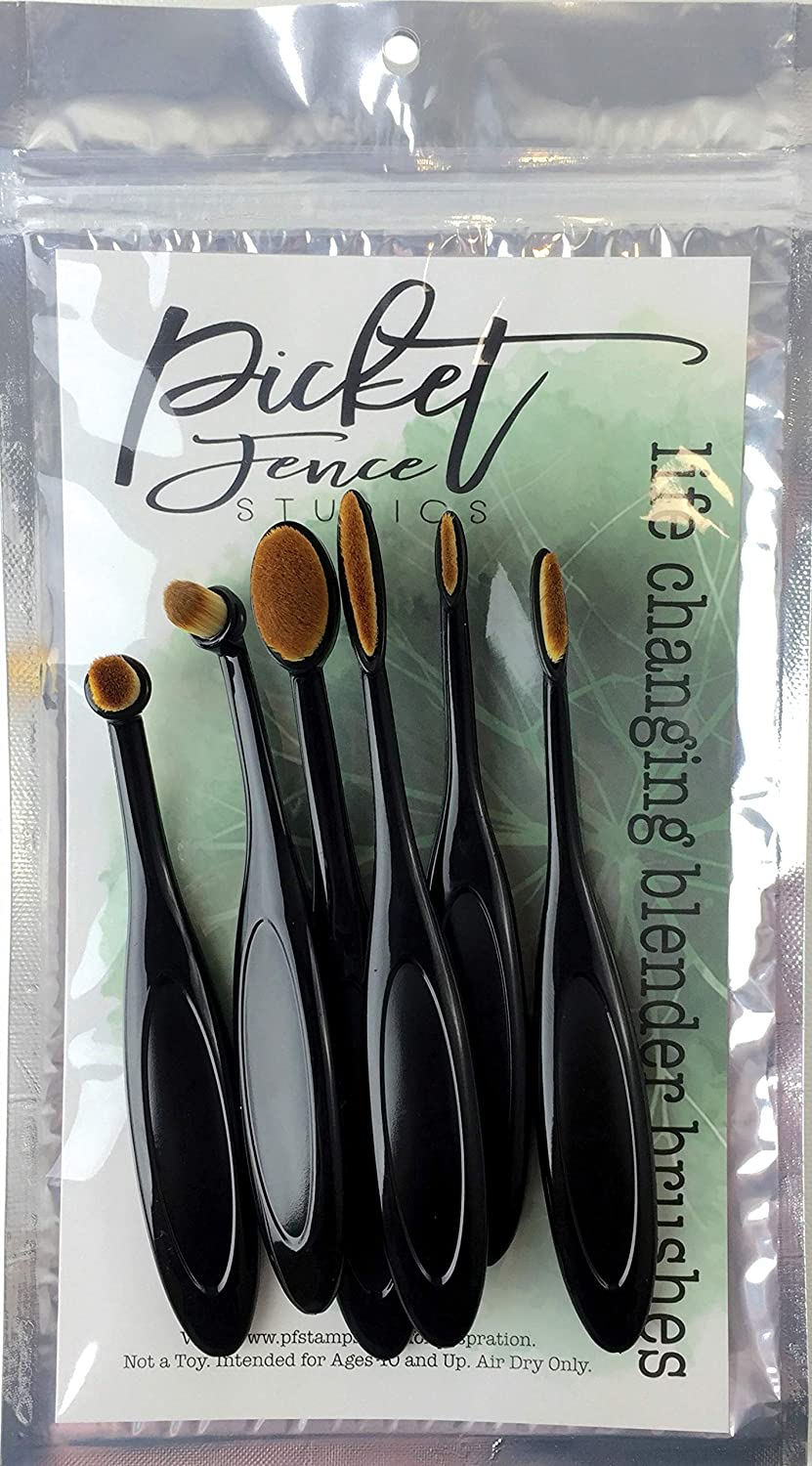 Picket Fence Studios Blender Brushes 6/Pkg