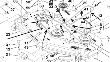 81Zb6tQiyjL._SX355_ amazon com 105 7790 oem toro z master belt home improvement toro z master wiring schematic at panicattacktreatment.co