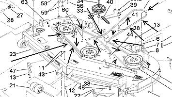 81Zb6tQiyjL._SX355_ amazon com 105 7790 oem toro z master belt home improvement toro z master wiring schematic at n-0.co