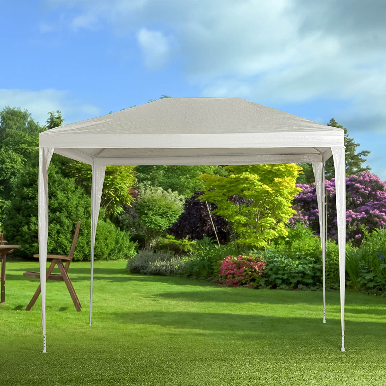 Habita Home Gazebo Desmontable 3X3 Rafia 3 x 3 m Color Blanco ...