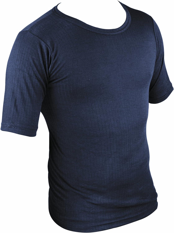 Large Blu Navy HIGHLANDER Maglietta Termica a Maniche Corte Strato Base Blu da Uomo
