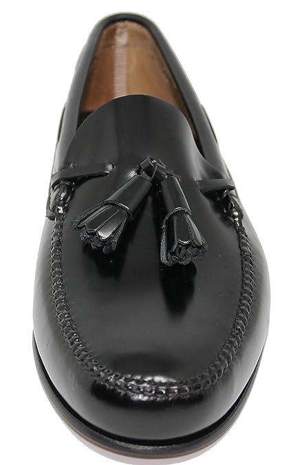 John Coleman Zapato Mocasín Estilo Castellano con Borlas EN Cuero Color  Negro  Amazon.es  Zapatos y complementos 79c2c503aecf