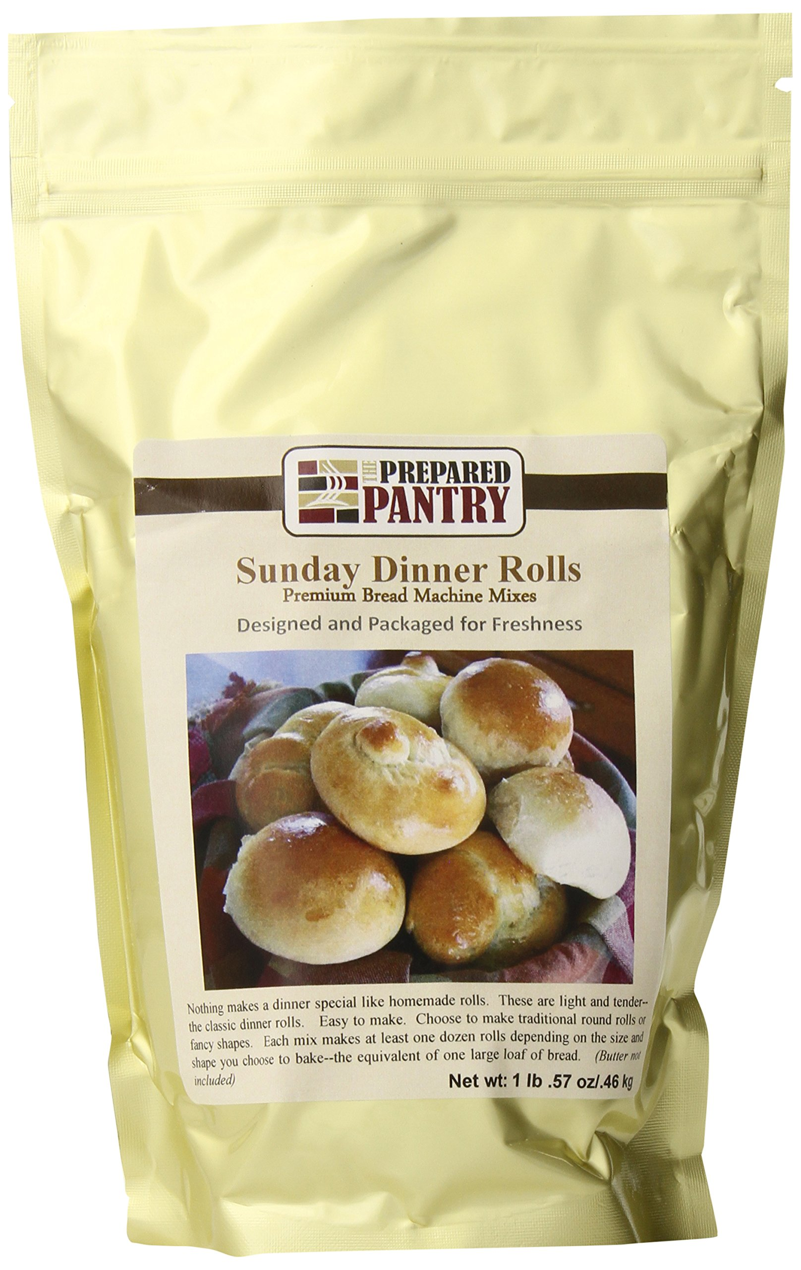The Prepared Pantry Sunday Dinner Rolls Bread Mix, 16.57 Ounce (Pack of 20)