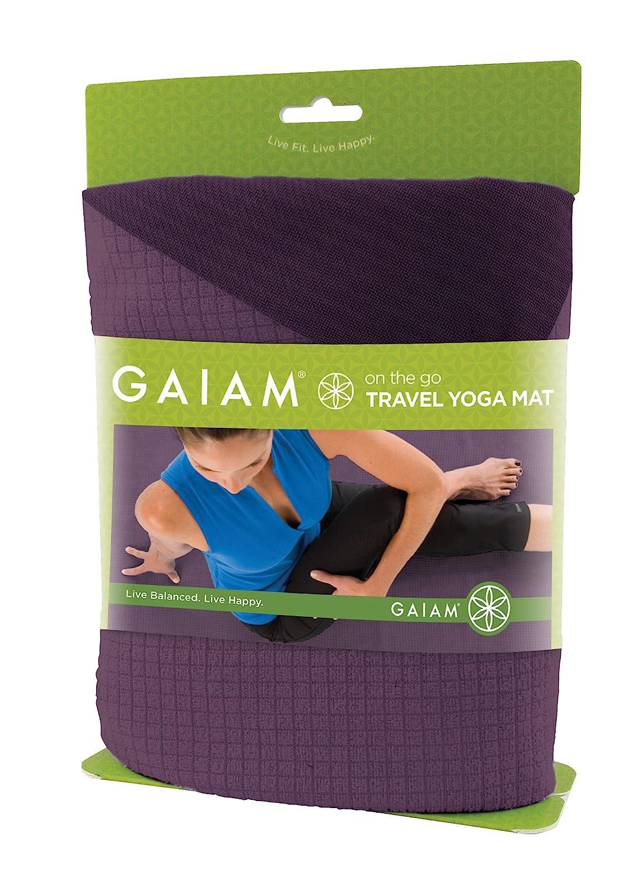 Gaiam Purple Travel Yoga Mattapis De Yoga De Voyage Peuple