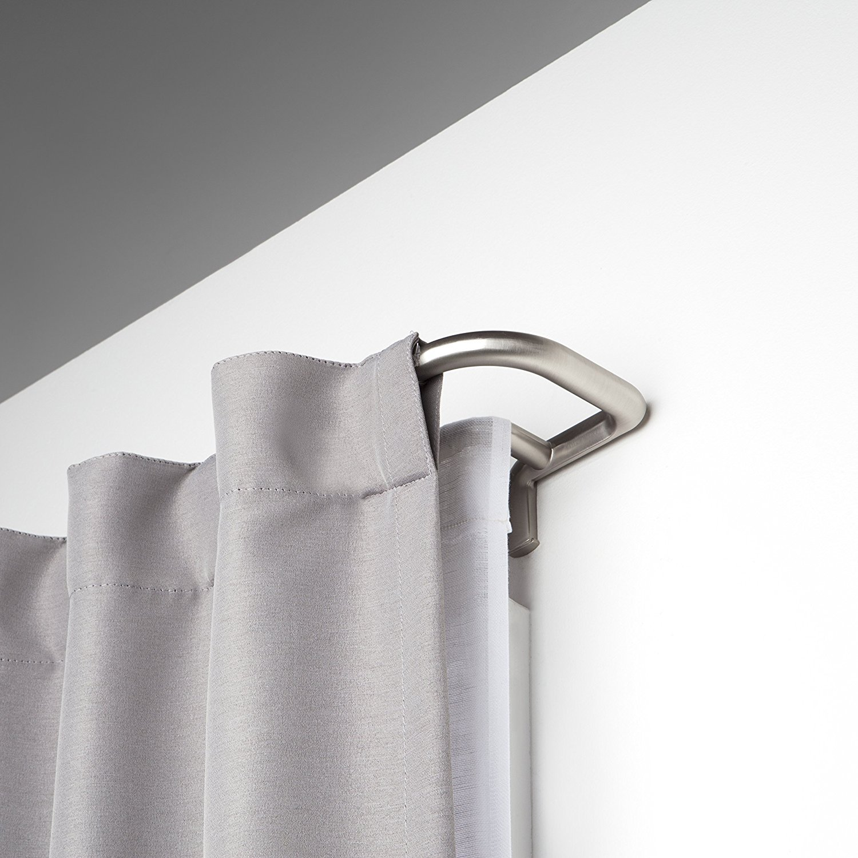 Umbra Twilight Room Darkening Double Curtain Rod For Window, 48 To 88 Inch,  Matte Nickel