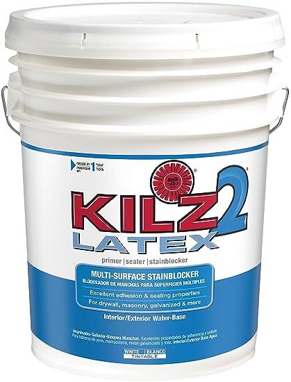 kilz 2 multi surface stain blocking interiorexterior latex primersealer white