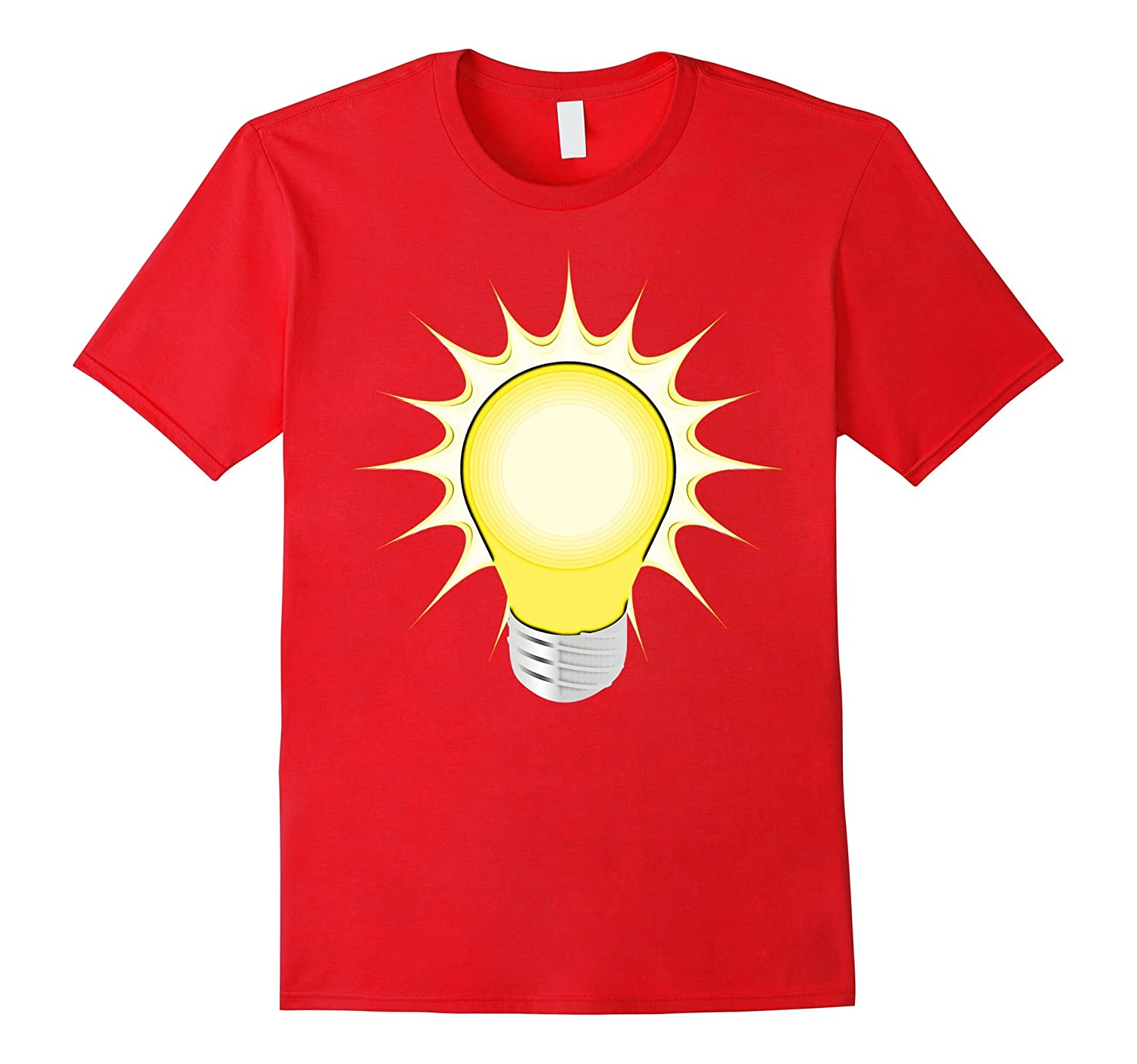 Lightbulb T-Shirt - Light Bulb Idea Tee Shirt-TD