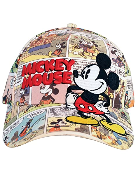 a038b33398f Image Unavailable. Image not available for. Color  Disney Mickey Mouse Old  Comic Prints Adult Baseball Cap
