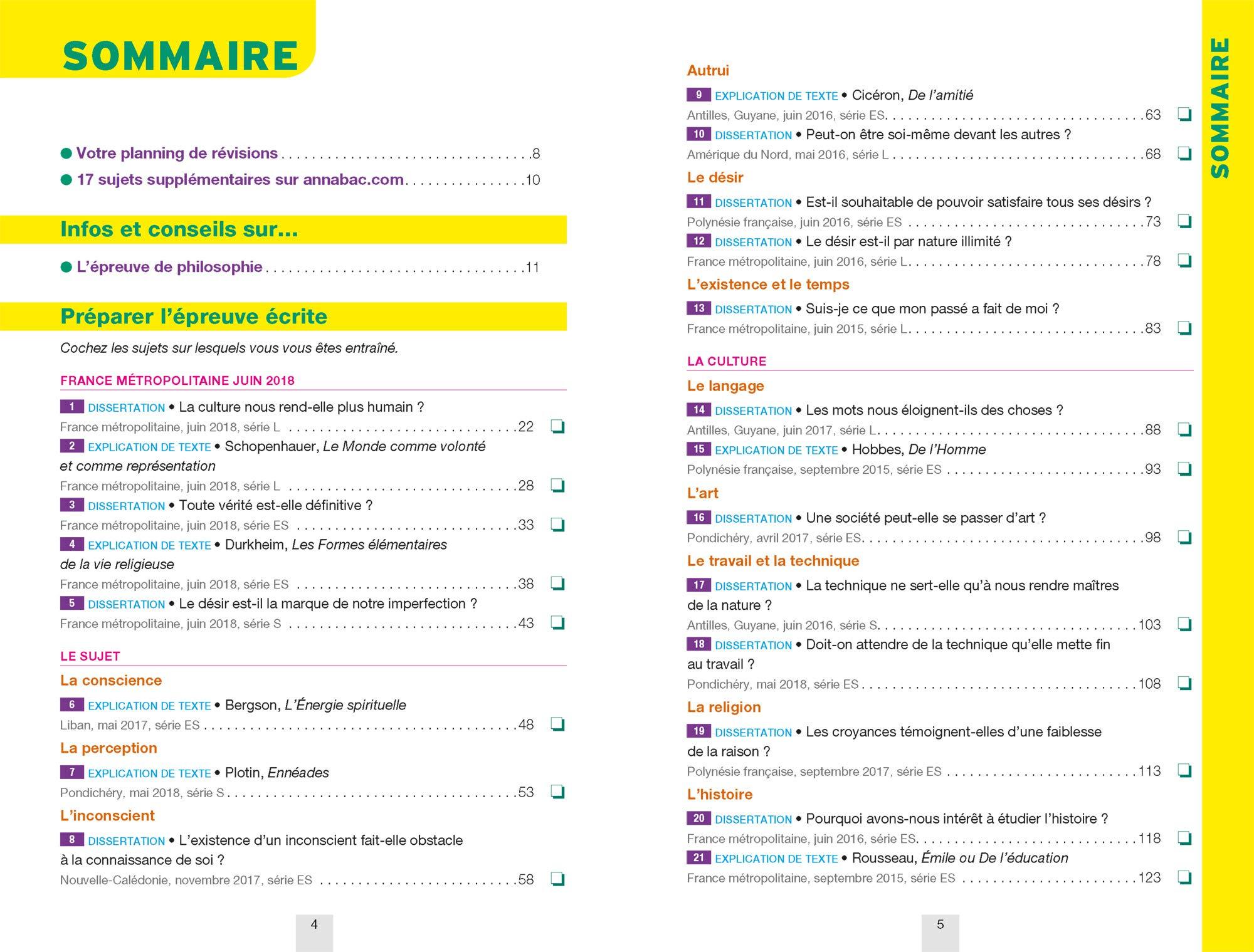Annales Annabac 2019 Philosophie Tle L, ES, S: sujets et corrigés du bac Terminale séries générales: Amazon.es: Sabrina Cerqueira, Didier Guimbail, ...