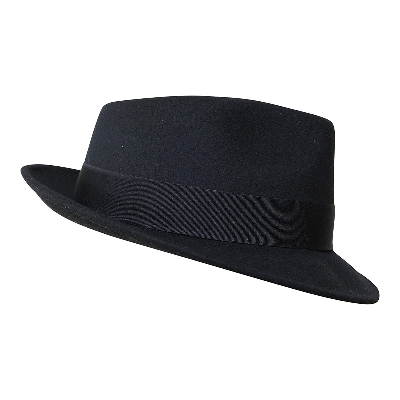 8bb8fd5c0e2 Borges   Scott B S Premium Doyle - Teardrop Fedora Hat - 100% Wool Felt -  Crushable for Travel - Water Resistant - Unisex  Amazon.co.uk  Clothing