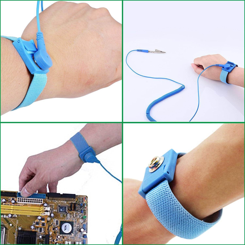 MENGS® Anti-Statik-Armband Erdung Antistatik-Band: Amazon.de ...