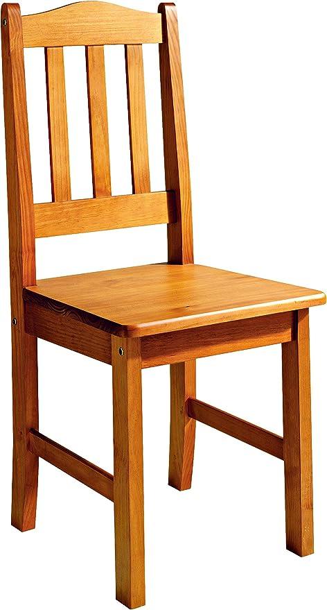 Altea Dogar – Set di 2 sedie con sedile in legno,98,5 x 42 x 45 cm, in legno, colore: miele