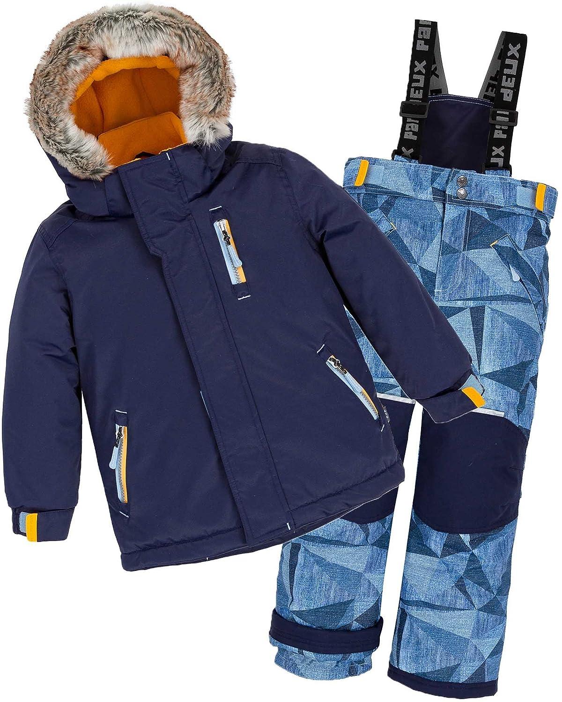 Deux par Deux Boys' 2-Piece Snowsuit Geo Jeans Print, Sizes 3-14
