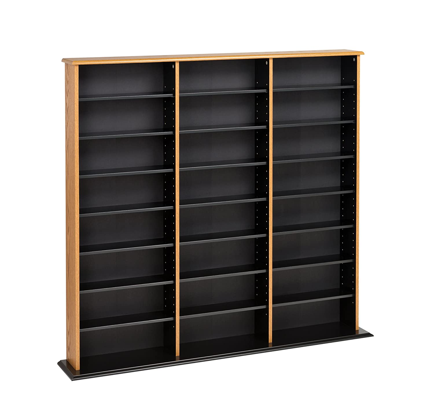 Cherry Wood Dvd Storage Cabinet Amazoncom Cherry Black Triple Width Wall Storage Kitchen Dining