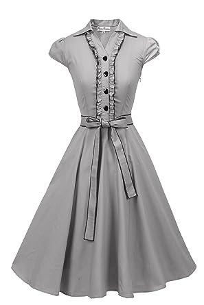 ed297e109aa Vienna Summer Women s Romantic Modest Swing Vintage Party Dress ...