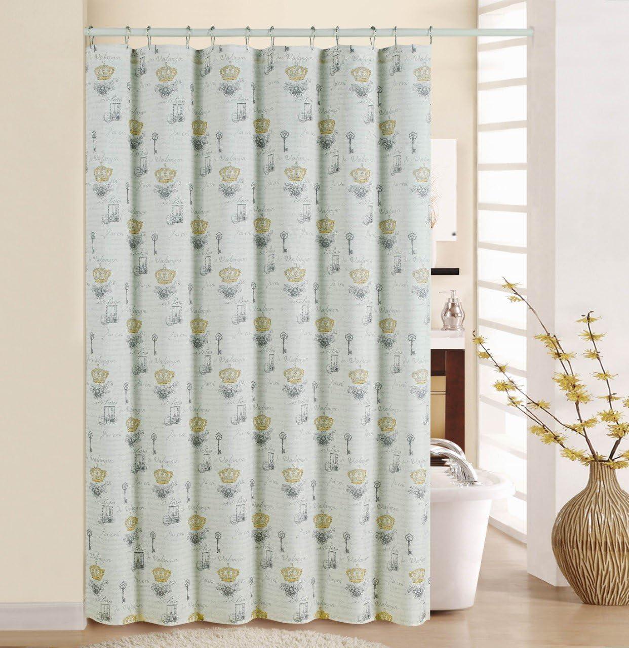 "Waverly Paris Notebook Shower Curtain Set, 70"" x 72"""