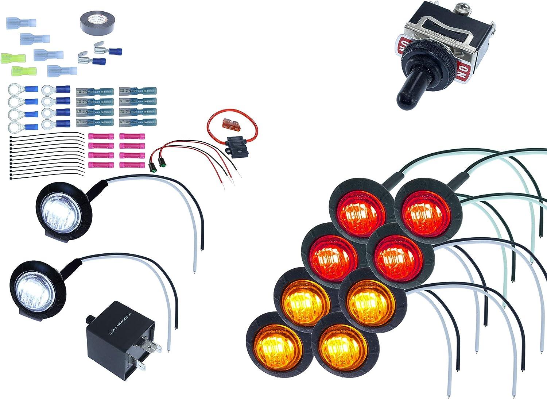 MCSADVENTURES ATV//UTV SXS Turn Signal DIY Street Legal Kit