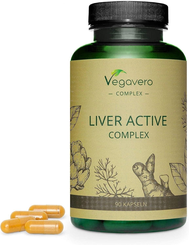 Suplemento para Hígado Vegavero® | Ingredientes 100% Vegetales | Sin Aditivos | Cúrcuma + Alcachofa + Diente de León + Achicoria + Colina | 90 Cápsulas | Desintoxicar Hígado* y Vesícula Biliar