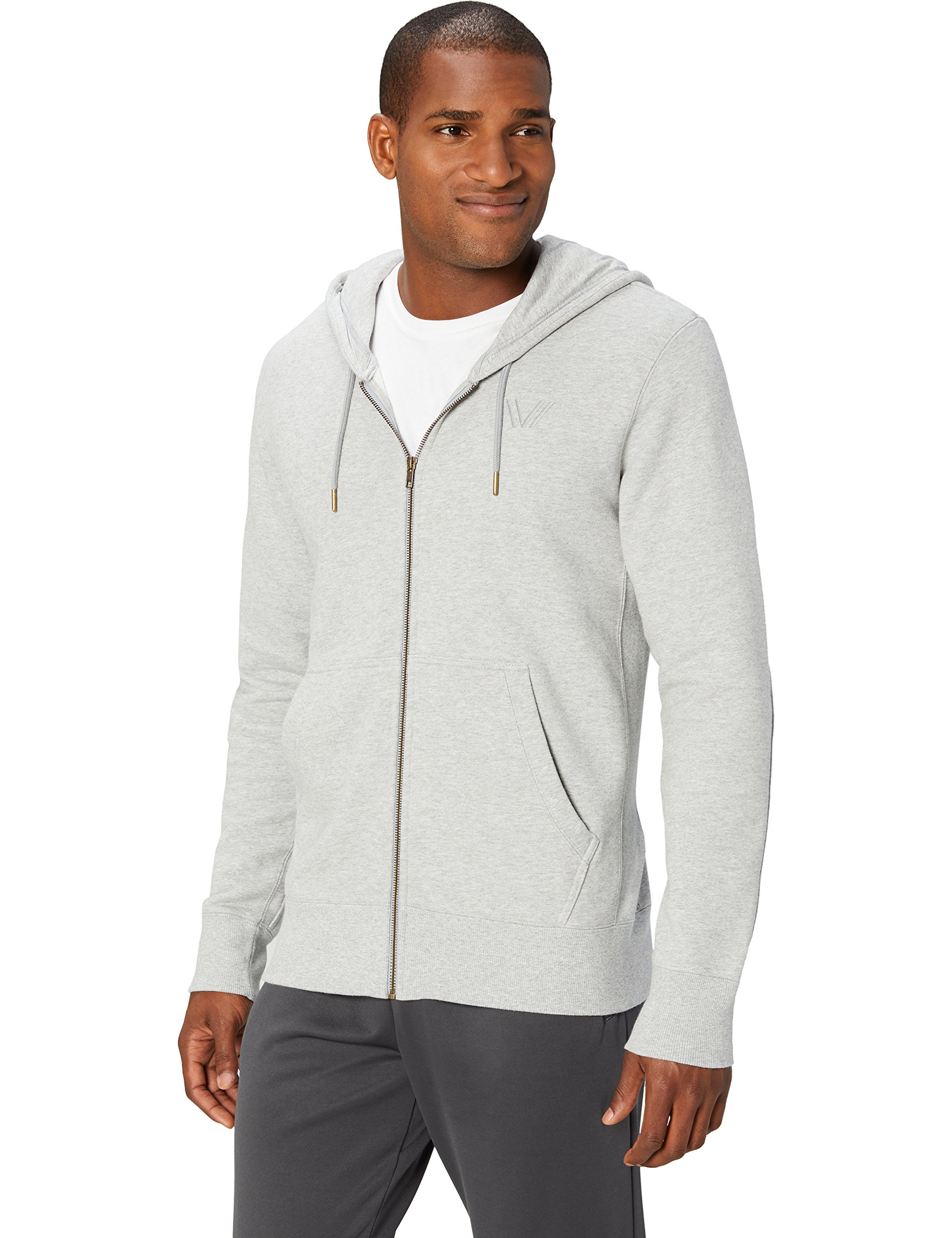 Brand Peak Velocity Mens Quantum Fleece Full-Zip Loose-Fit Hoodie