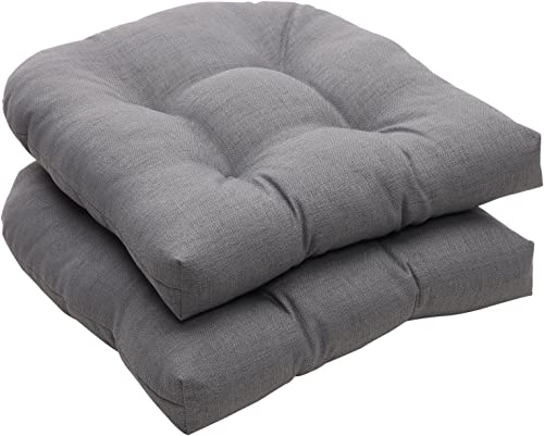 Pillow Perfect Outdoor/Indoor Rave Graphite Tufted Seat Cushions Round Back