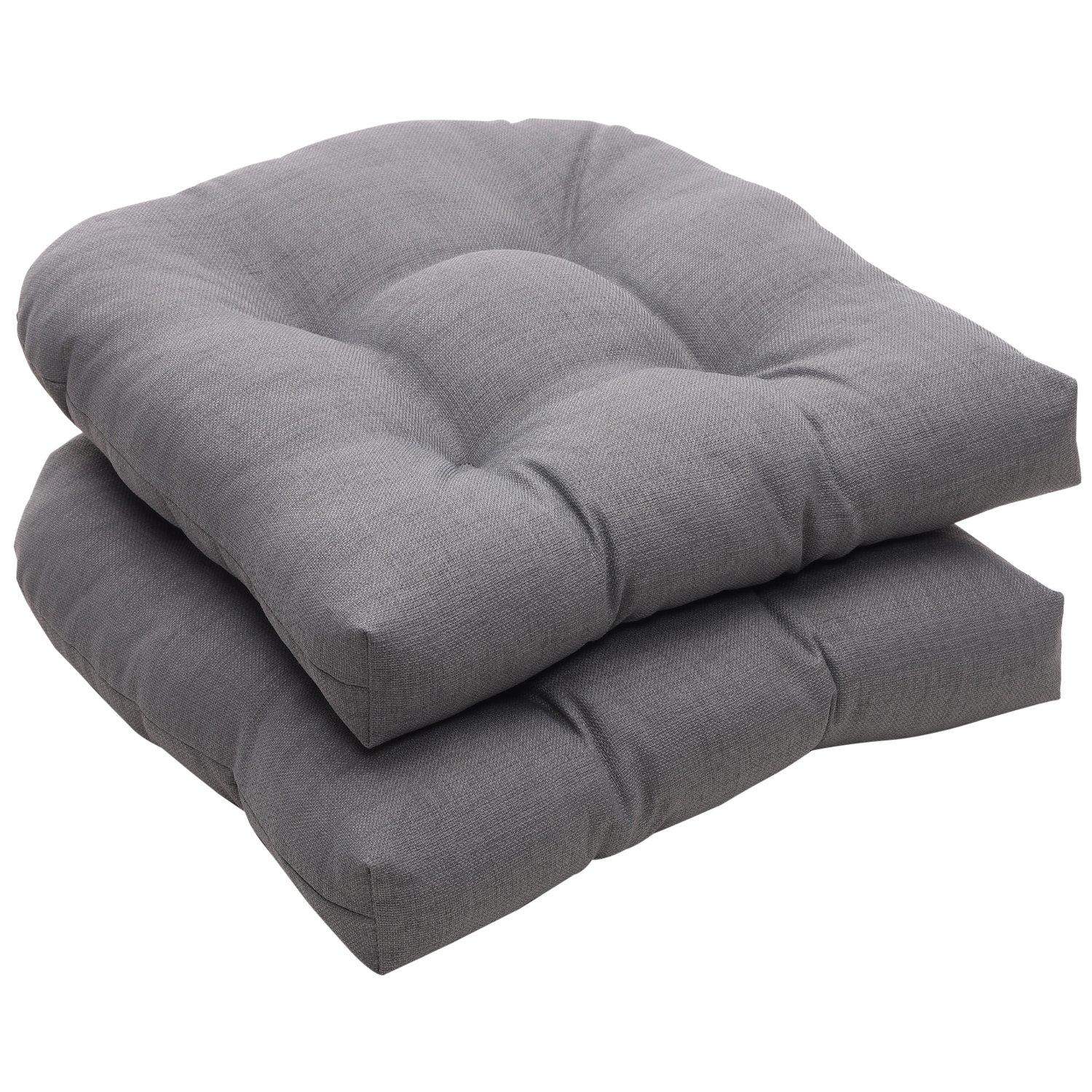 Pillow Perfect Indoor/Outdoor Gray Textured Solid