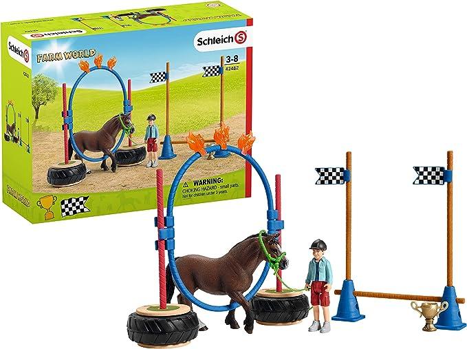 SCHLEICH- Playset Course d'agility pour Poney Farm...