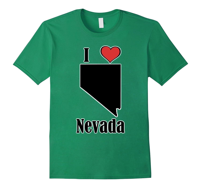 I Love Nevada Souvenir T-Shirt State Shape-TH