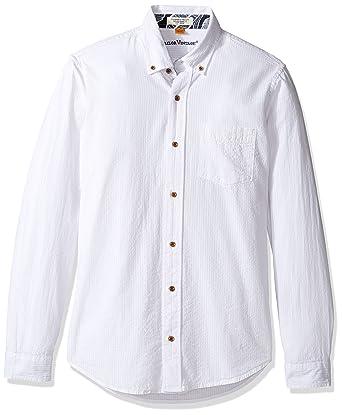 Tailor Vintage Men s Long Sleeve Seersucker Cotton Linen Shirt at ... b42302958