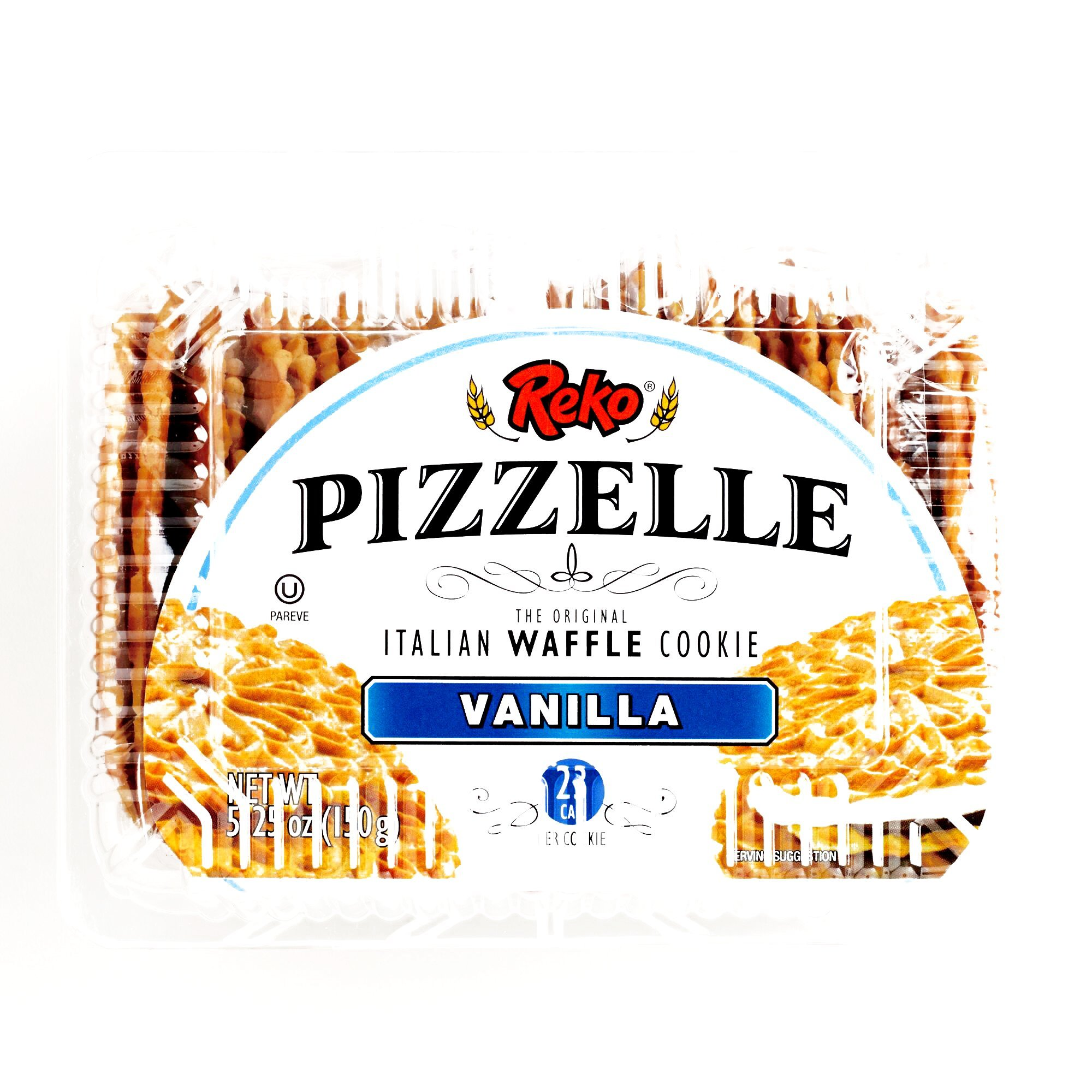 Reko Vanilla Pizzelle Cookies 5.25 oz each (3 Items Per Order) by Reko Vanilla
