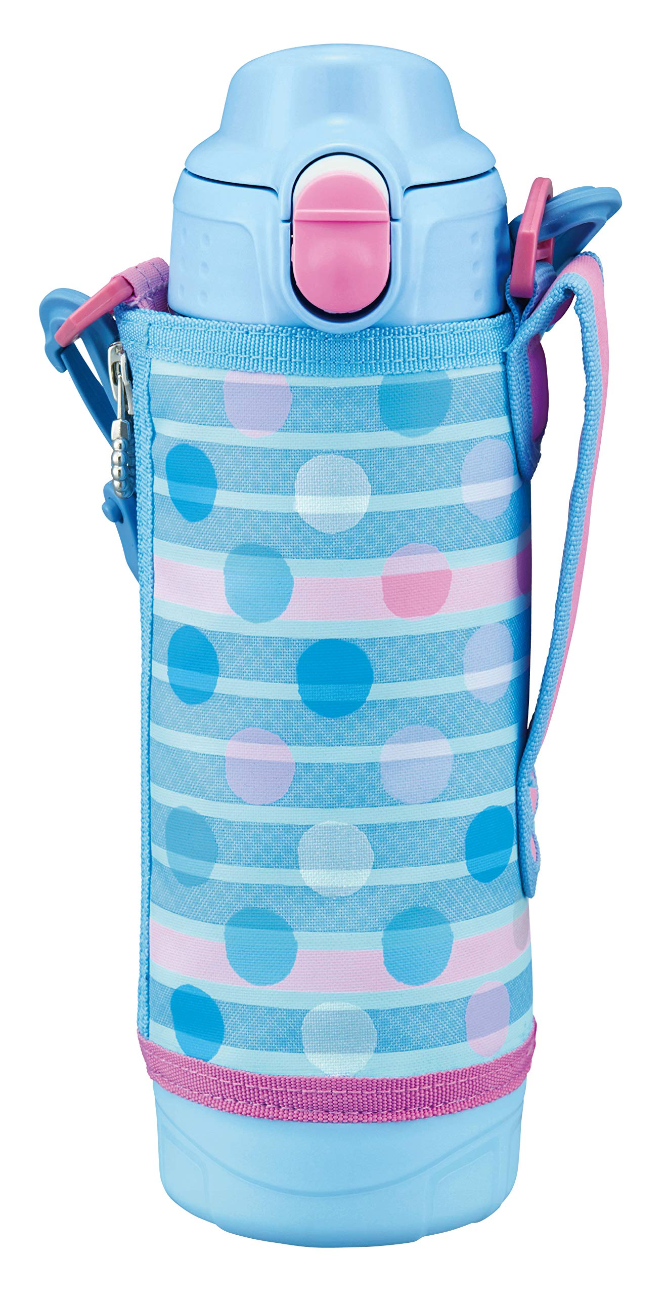 Tiger Corporation (TIGER) Cool Sports Bottle Blue 2WAY with Tiger Water Bottle 500ml Straight Drink Cup MBO-H050AT