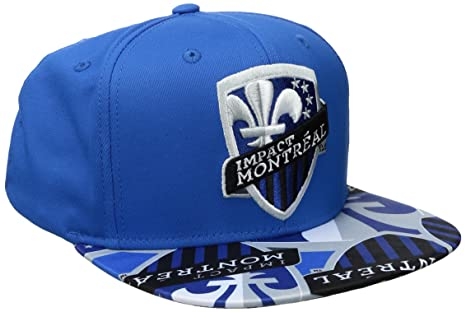 official photos 74916 6099c MLS Montreal Impact Adult Men MLS SP17 Fan Wear Script Logo Flat Brim  Snapback,OSFM