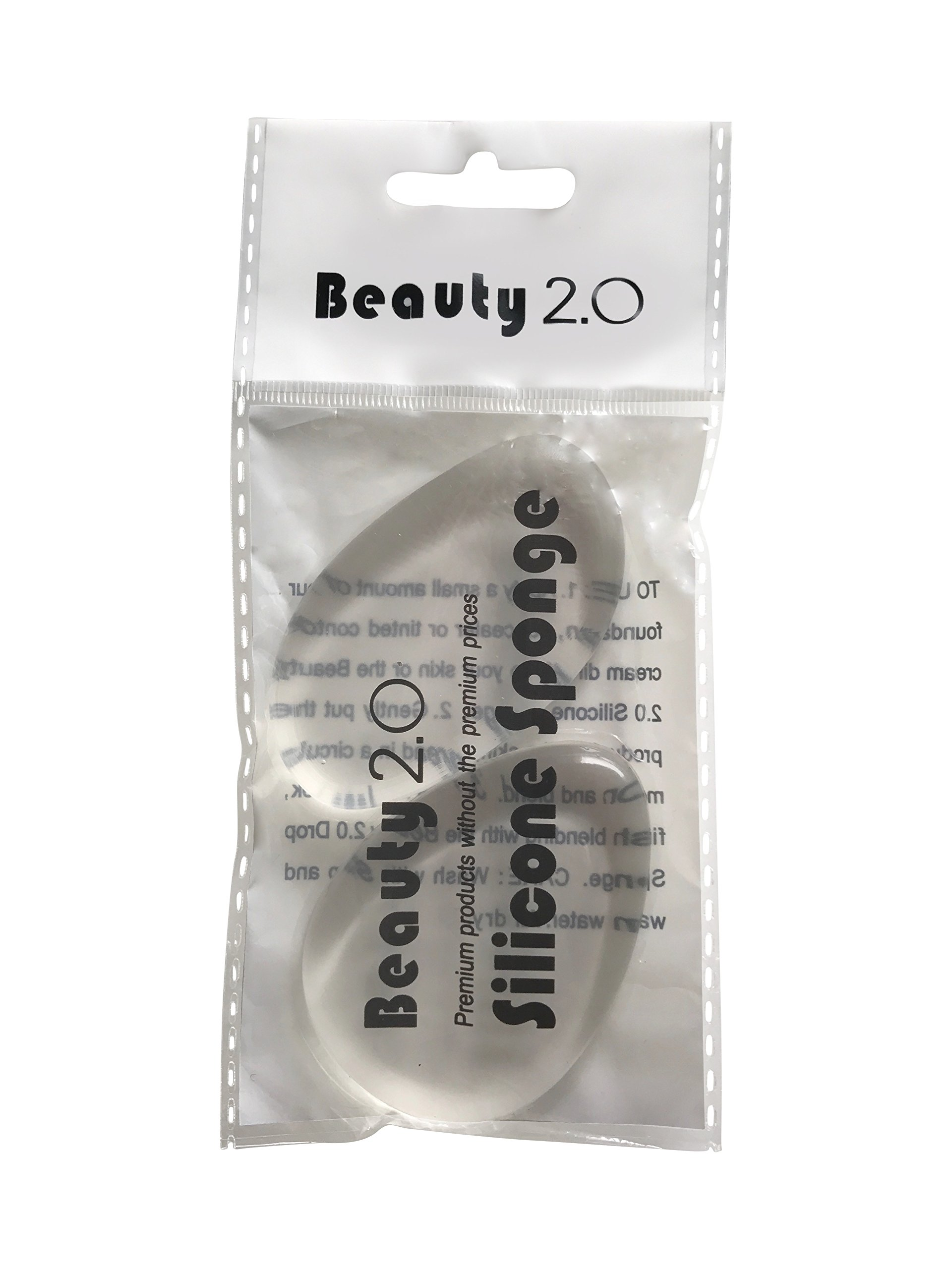 2-Pack Silicone Makeup Sponge by Beauty 2.0 - Premium Applicator for Foundation & Concealer