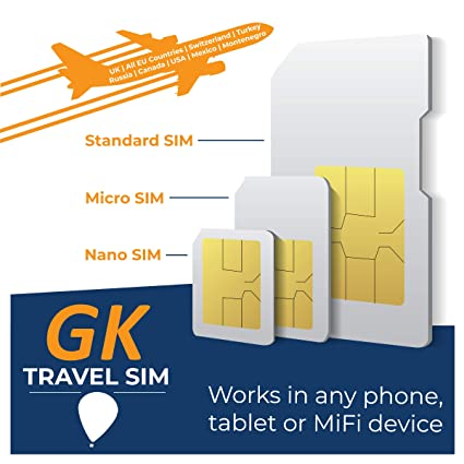 Amazon.com: GK Travel SIM - Prepaid Travel Data SIM Card ...