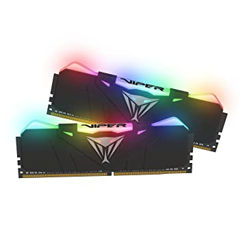 Patriot Memory PVR416G300C5K 16 GB DDR4 Viper Gaming RGB Series DRAM  3000MHz Kit - Black