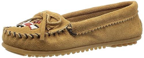 Minnetonka Thunderbird II 607T - Mocasines de ante para mujer, color beige, talla 38: Amazon.es: Zapatos y complementos