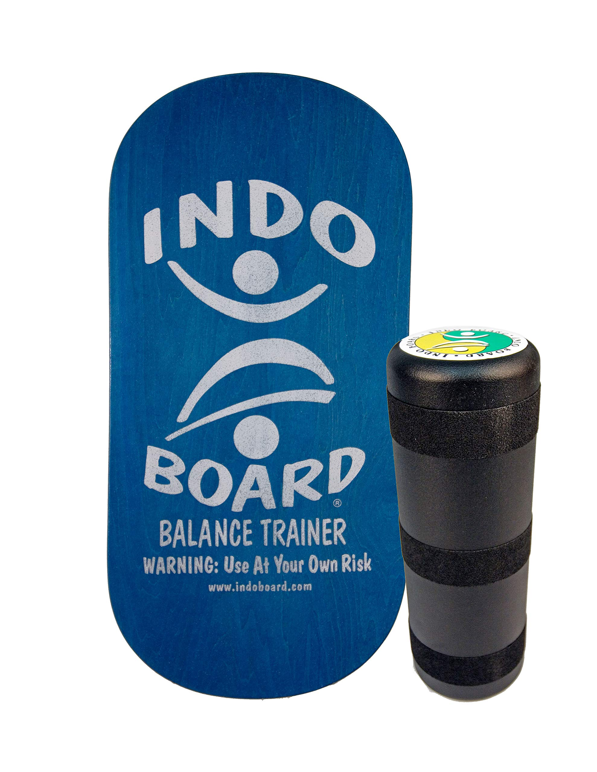 INDO BOARD Rocker 33'' X 16'' with 6.5'' Roller - High Performance Balance Board for Advanced Tricks - Aqua Blue